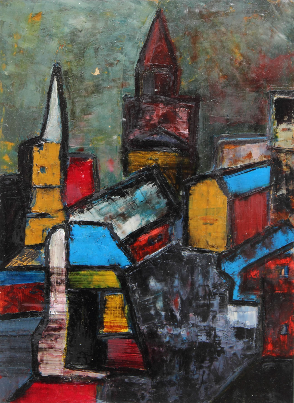 Image of Ribeiro's Untitled (Townscape), 1958.