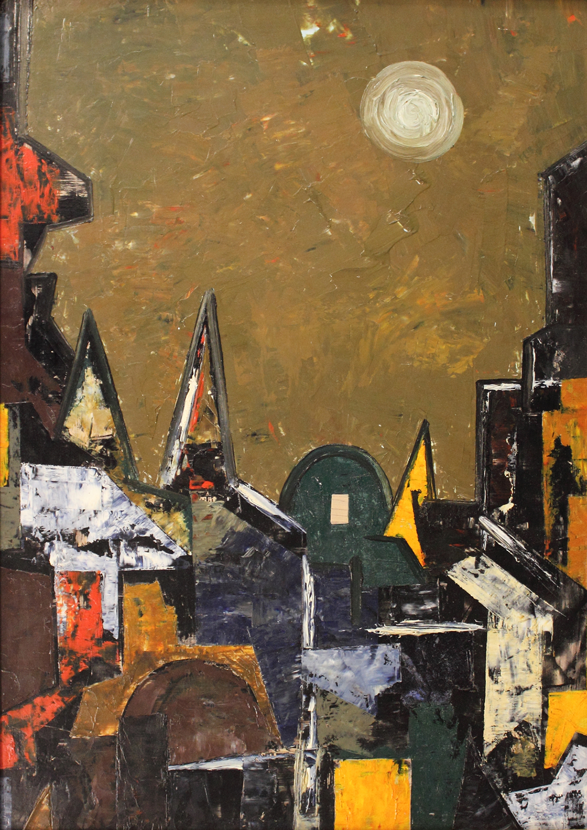 Image of Ribeiro's Untitled (Townscape), 1962.